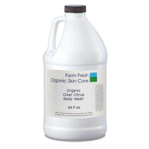Vegan Organic Citrus Blast Body Wash Bulk – 64 oz (Half Gallon) * Blend of Citrus Essential Oils * Organic Shower Bath Wash * Orange Lemon Grapefruit Essential Oils Used * Made in USA