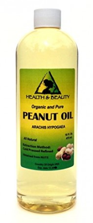 Peanut Oil Refined Organic Carrier Cold Pressed 100% Pure 16 oz