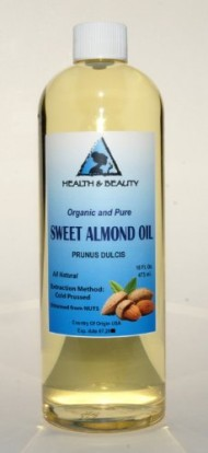 Sweet Almond Oil Organic Carrier Cold Pressed Refined 100% Pure 16 oz
