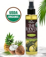 USDA Certified Organic Body & Bath Oil – Caribbean Coconut, 5 Fl.oz. ★ Brand New ★ The Highest Quality Pure, Certified Organic and 100% Natural Daily Body Oil ★ Luxurious. Light and Easily absorbable after shower to Moisturize Skin or Use as a Massage Oil. ★ Jojoba & Olive Oil along with Vitamin E. Anti-inflammatory ★ No Alcohol, No Paraben, No Artificial Detergents, No Color, No Synthetic perfumes, No Chemicals.