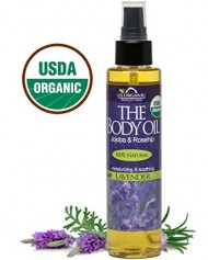 USDA Certified Organic Body & Bath Oil – Lavender, 5 Fl.oz. ★ Brand New ★ The Highest Quality Pure, Certified Organic and 100% Natural Daily Body Oil ★ Luxurious. Light and Easily absorbable after shower to Moisturize Skin or Use as a Massage Oil. ★ Jojoba & Rosehip Oil along with Vitamin E. Anti-inflammatory ★ No Alcohol, No Paraben, No Artificial Detergents, No Color, No Synthetic perfumes, No Chemicals.
