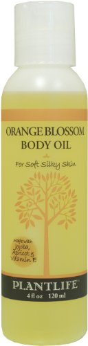 Orange Blossom Body & Bath Oil with Vitamin E, Apricot & Jojoba- 4 oz.