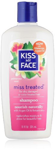 Kiss My Face Miss Treated Shampoo for Damaged Hair, 11-Ounce Bottles (Pack of 3)