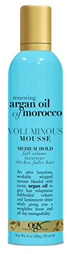 OGX Argan Oil of Morocco Voluminous Mousse, 8 Ounce