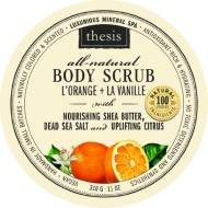 Body Scrub – Natural Dead Sea Salt Detox – Orange Vanilla