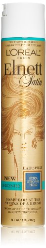 L'Oreal Paris Elnett Satin Hairspray Extra Strong Hold Unscented, 11.0 Ounce