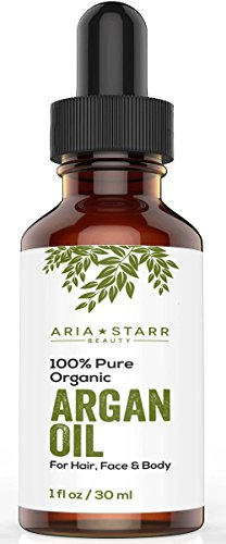 Virgin Argan Oil, 1 fl oz. ★ Premium Quality 100% ECO Certified Organic For Hair, Skin, Face & Nails – Best Moroccan Anti-Aging, Anti-Wrinkle, Anti-Oxidant Beauty Secret – Prevents Frizz & Increases Natural Hair Shine & Silkiness – Natural Skin Care Products for Women and Men – Nature's Best Beard Oil – Moisturizer for Dry Skin & Cuticles – Pure Oil not a Cream or Serum – USDA & EcoCert Certified – ONE YEAR Satisfaction Guarantee