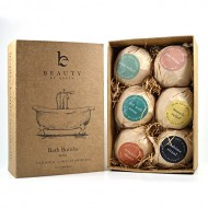 Bath Bomb Gift Set – 6 Pack of Large Organic Bath Fizzies from Beauty by Earth – Lush, Luxury and Fizzy Healing Bath Bombs with Essential Oils, Shea Butter, Cocoa Butter and Epsom Salts – Best Relaxing and Moisturizing Soak and Perfect Gift Idea – Made in the USA