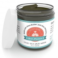 Dead Sea Mud Mask – Spa's Premium HUGE 8oz Dead Sea Mud Mask for Face Facials and Body Mask – Clears Acne – Anti-Aging Mask – Exfoliate Your Skin's Pores – Natural Moisturize – All Natural – No Artificial Preservatives – Organic Dead Sea Mud Mask – Organic Aloe Vera Juice – Organic Jojoba Oil – Organic Sunflower Oil – Organic Hickory Bark Extract – Organic Calendula Oil – Organic Shea Butter
