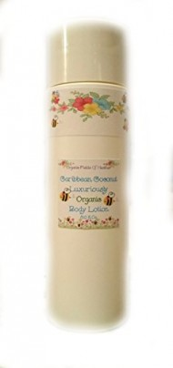 Luxury Organic Body Lotion – 100% All Natural & Non-GMO – Tropic Caribbean Coconut Scent – NOW 8 Ounce Size! ORGANIC INGREDIENTS – Women – Men – Kids – Will not dry out your skin or leave a long lasting oily residue. Will heal damaged skin – Terrific for EVERY skin type, Oily, Dry, Sensitive or Normal – Natural vitamin content nourishes and improves overall health and condition of your skin. NO: Sulfates, Pthalates, Parabens, Or Dyes