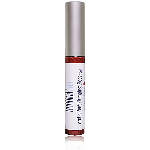 NORDICA LUX ARCTIC PLUMPING GLOSS – Iceland Poppy – Promotes Lip Fullness in Minutes with Micronized Hyaluronic Acid That Swells Lips without Irritation – 95% Organic – .3 oz