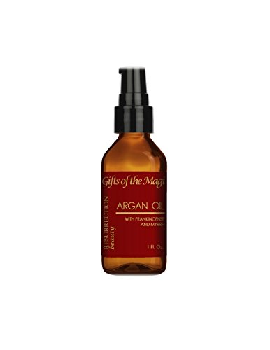 Frankincense and Myrrh Argan Oil For Skin, Hair, Nails and Scars, Pure Organic