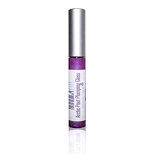 NORDICA LUX ARCTIC PLUMPING GLOSS – Icelandic Lupine – Promotes Lip Fullness in Minutes with Micronized Hyaluronic Acid That Swells Lips without Irritation – 95% Organic – .3 oz