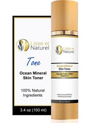 Lisse et Naturel Ocean Mineral Skin Toner – 100% Natural and Organic Anti Aging Face Toner With Vitamin C, Glycolic Acid, MSM & More – Nourishes and Hydrates The Skin Deeply – 3.4 OZ Size