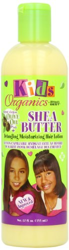 Africa's Best Kids Organic Shea Butter Detangling Moisturizing Hair Lotion, 12 Ounce (Pack of 2)