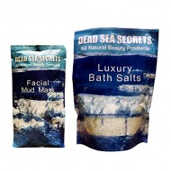 Dead Sea Spa Set Pack✔ 1 Facial Dead Sea Mud Mask + 1 Luxury Dead Sea Bath Salts Pack✔ All Natural Organic Spa Quality Skin Care✔ Cleanses, Exfoliates, Purifies, Moisturizes, Rejuvenates✔ Excellent for Acne, Blemishes, Eczema, Psoriasis✔ Fantastic Anti Aging Firming & Lifting ✔ 100% Money Back Guarantee✔ Leading Beauty Spa Skin Therapy Now for Men & Women At Home