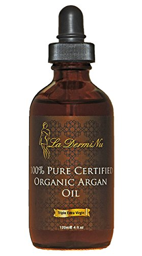 100% Pure Certified Organic Argan Oil 4 Oz for Hair, Skin, Face, Lips, Nails – Healthy Sexy Hair – Daily Moisturizer, Best Hair Conditioner – Anti-aging – Acne to Clear Skin – Money Back Guarantee!