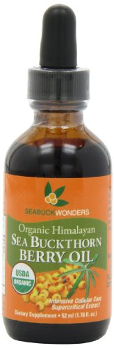 Sea Buckthorn Berry Oil – 100% Certified Organic, 1.76-Ounces Bottle