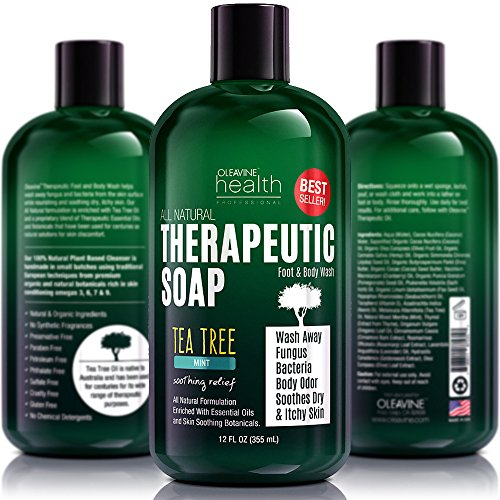 Antifungal Soap with Tea Tree Oil & Neem  Helps Treat
