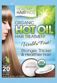 Hot Oil Hair Treatment Organic Coconut By Healthy Hairpacs (4 Pack)