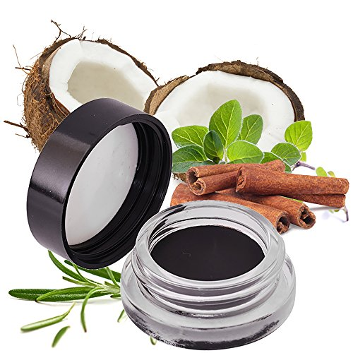 Very Black Gel Eye Liner Smudge Pot – 95% Natural, 70% Organic, Vegan & Gluten Free – Water & Smudge Resistant, Long Lasting, Safe For Sensitive Eyes – No Toxic Chemicals – Try It Today!