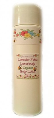 Luxury Organic Body Lotion – 100% All Natural & Non-GMO – Lush Fields of Lavender Scent – NOW 8 Ounce Size! ORGANIC INGREDIENTS – Women – Men – Kids – Will not dry out your skin or leave a long lasting oily residue. Will heal damaged skin – Terrific for EVERY skin type, Oily, Dry, Sensitive or Normal – Natural vitamin content nourishes and improves overall health and condition of your skin. NO: Sulfates, Pthalates, Parabens, Or Dyes