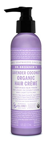 Dr. Bronner – Lavender & Coconut Hair Conditioner & Styling Creme, 6 fl oz cream