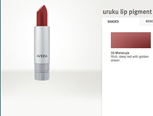 AVEDA Uruku Lip Pigment Lipstick Rich Deep Red w/Golden Sheen #33 MARACUJA