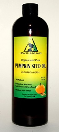 Pumpkin Seed Oil Unrefined Organic Carrier Cold Pressed Pure 32 oz