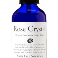 Rose Crystal Organic Rosewater Hydrating Facial Toner with Rose Quartz Gem Elixir 8.5 oz – As Seen in Fast Company Magazine