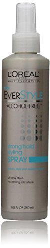 L'Oreal Paris EverStyle Strong Hold Styling Spray, Alcohol-Free, 8.5 Ounce