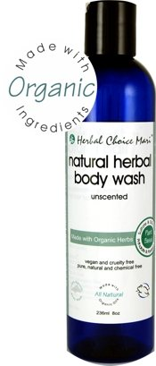 Herbal Choice Mari Body Wash m/w Organic Unscented 236ml/ 8oz