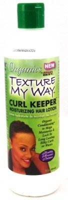 Africas Best Organic Texture My Way Curl Keeper Lotion 12 oz. (3-Pack) with Free Nail File