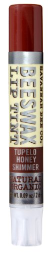 Savannah Bee Company Natural and Organic Tupelo Honey Shimmer Lip Tint, 0.09-Ounce