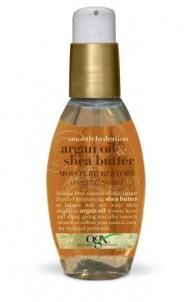 OGX Moisture Restore Weightless Oil, Smooth Hydration Argan Oil & Shea Butter, 4oz