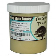 Ivory Shea Butter (16 Oz. / 1 Lb) By The Shea Trader® – Premium, Grade A, Raw, Unrefined, Pure, & Non-GMO – Make Your Own Lotion, Cream, Soap Base and Soap – Freshly Imported From Ghana -Packaged in a Clear, Cosmetic-grade Jar