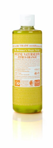 Dr. Bronner's Castile Liquid Soap, Organic, Citrus Orange – 16 Oz