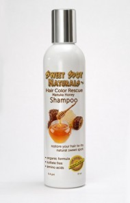 Hair Color Rescue, Best Shampoo for Colored, Chemically Damaged Hair. Color Safe. Restore Vibrancy to Frizzy, Dry, Brittle Hair. Reduce Hair Loss, Eliminate Dandruff. Natural Ingredients, Organic Aloe Vera, Coconut Oil, Amino Acids. Alcohol Free, Sulfate Free, Paraben Free, Chemical Free, Fragrance Free. 8oz.