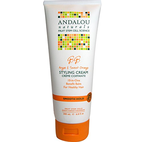 Andalou Naturals Smooth Hold Styling Cream,  Argan and Sweet Orange, 6.8 Ounce