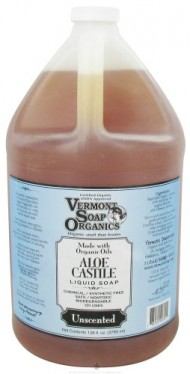 Vermont Soapworks – Aloe Castile Liquid Soap Unscented – 1 Gallon