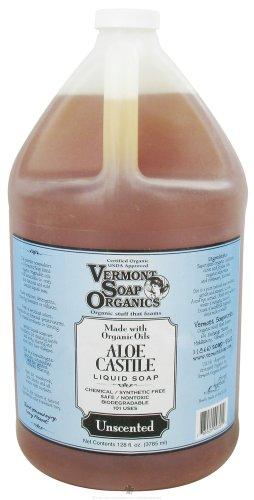 Vermont Soapworks – Aloe Castile Liquid Soap Unscented – 1 Gallon