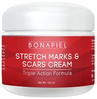 Stretch Marks and Scars Cream – Moisturizing Body Cream Treatment to Remove & Prevent Old and New Marks and Scars – Natural & Organic For Pregnant Women, After Birth, & Men – 4 Oz