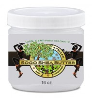 Sogo Shea Butter – 100% Raw and Unrefined Shea Butter. Skincare the Whole Family Can Trust. Certified Organic Shea Butter. For Dry Skin – No Chemicals. Easy to Use 16 Oz Jar. High in Vitamins A & E for Anti-wrinkle, Blemishes, Rashes, Burns, Itching and Stretch Marks for Expectant Mommies. Great for DIY Soaps, Body Butters, Lotions Etc. Buy 2 and Get Free Shipping. Money Back-30 Day 'Satisfaction Guarantee'