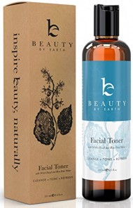 Facial Toner – Hydrating Face Toner – With Organic and Natural Ingredients with Witch Hazel & Rose Water – Reduce Puffiness & Redness, Use As Makeup Remover and Astringent – Made in USA 8.5oz