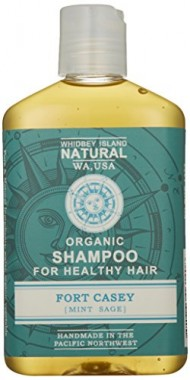 Whidbey Island Natural Organic Shampoo – Fort Casey (Mint Sage) 8 fl oz. Made with enriching tropical and nut oils. Safe for dyed hair. Natural foam – No Sodium Lauryl Sulfate (SLS). No alcohol. Handmade in the Pacific Northwest, USA