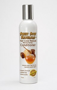 Hair Color Rescue, Best Leave In Deep Conditioner for Chemically Damaged, Color Treated Hair. Color Safe. Natural Formula Contains Raw Manuka Honey, Organic Aloe Vera and 20 Amino Acids. Moisturize and Hydrate Dry, Brittle, Frizzy Hair. Alcohol Free, Sulfate Free, Paraben Free, Chemical Free, Fragrance Free. 8 oz