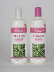 Mill Creek Botanicals Keratin Shampoo and Conditioner Bundle