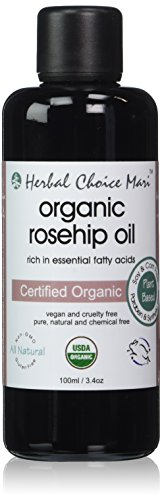 Herbal Choice Mari Organic Rosehip Oil 100ml/ 3.4oz Bottle