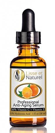 Lisse et Naturel Professional Strength Anti-Aging Vitamin C Serum with 20% Vitamin C & 11% Hyaluronic Acid Content