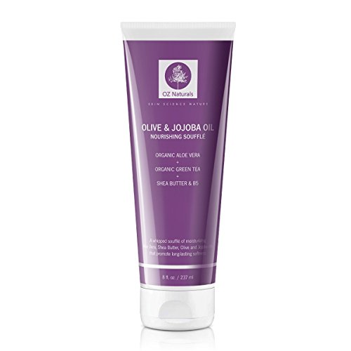 OZ Naturals – The BEST Body Moisturizer- This Natural Moisturizer Contains Organic Shea Butter, Olive & Jojoba Oil Whipped Into A Rich & Soufflè Which Will Provide Your Skin With A Healthy Glow!
